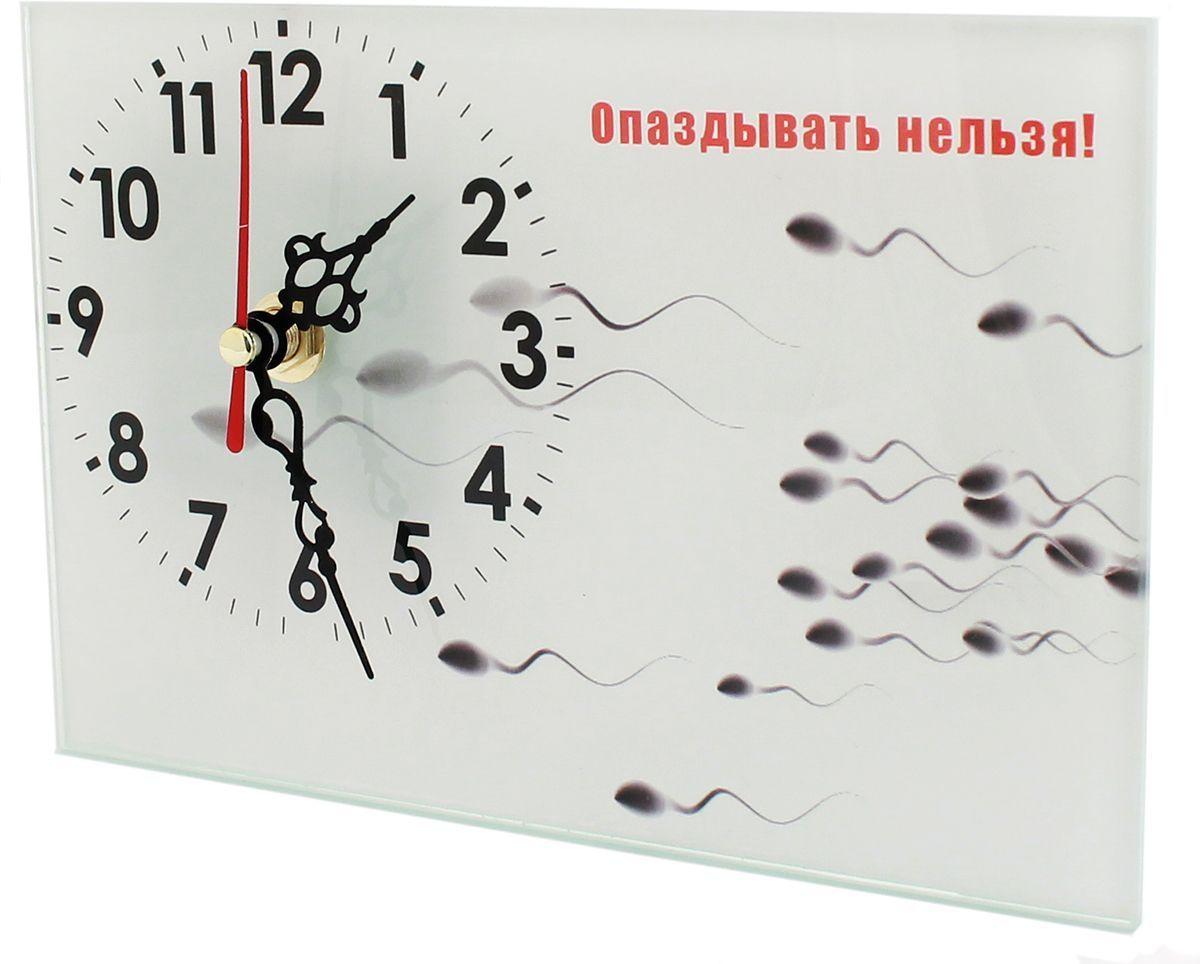 Часы настольные Эврика Опаздывать Нельзя, стеклянные, 18 х 12 х 2 см98094Часы настольные стеклянные с механизмом бесшумного хода (не тикают) в белой картонной коробке. Размеры упаковки: 20 х 12 х 4 см. Элемент питания: 1хАА (1,5В).