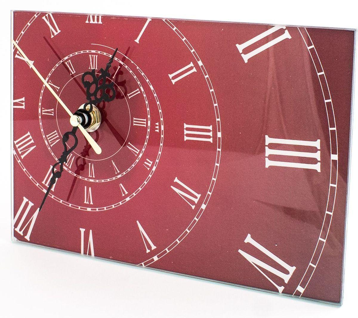 Часы настольные Эврика Спираль, стеклянные, 18 х 12 х 2 см98097Часы настольные стеклянные с механизмом бесшумного хода (не тикают) в белой картонной коробке. Размеры упаковки: 20 х 12 х 4 см. Элемент питания: 1хАА (1,5В).