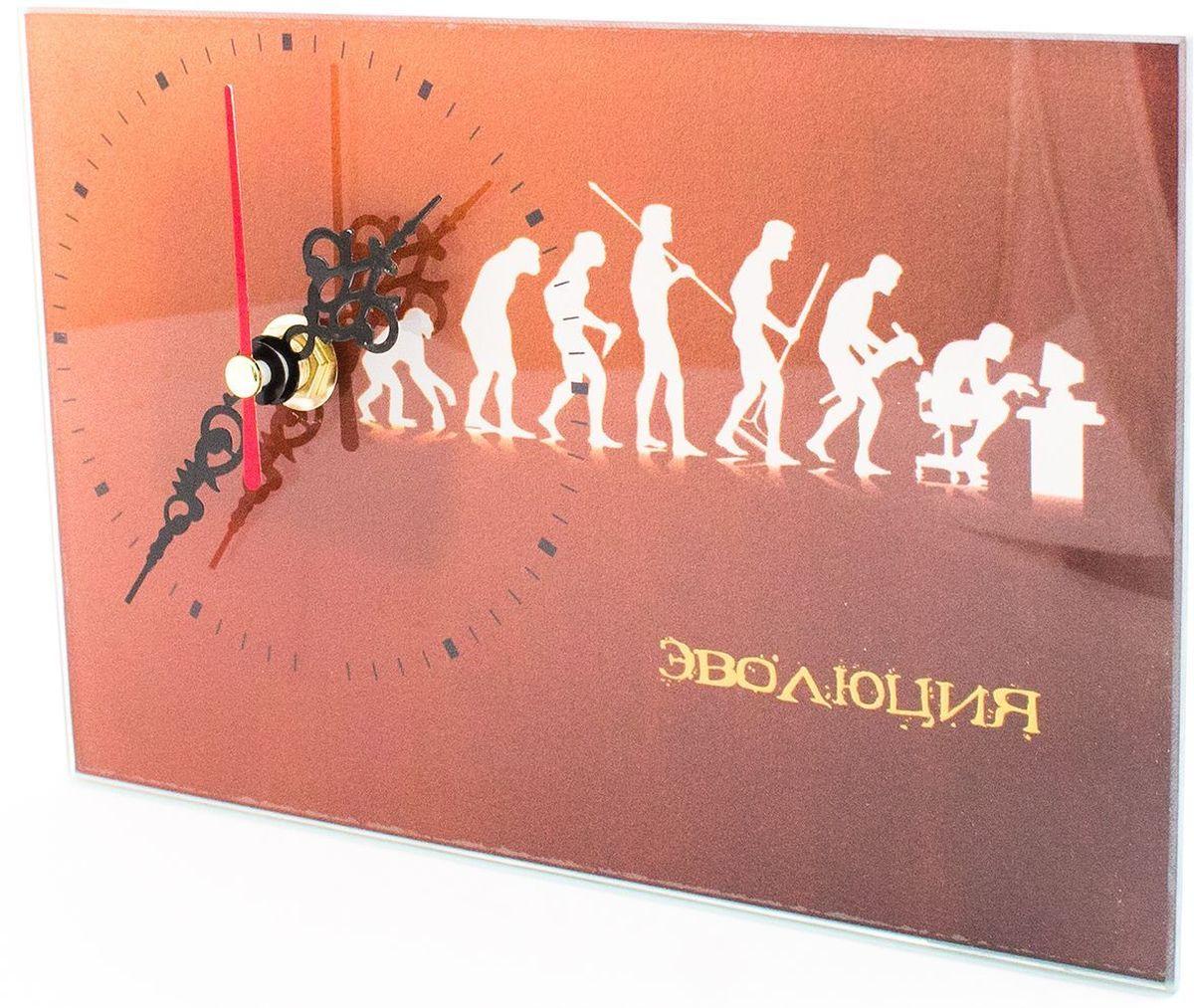 Часы настольные Эврика Эволюция, стеклянные, 18 х 12 х 2 см98100Часы настольные стеклянные с механизмом бесшумного хода (не тикают) в белой картонной коробке. Размеры упаковки: 20 х 12 х 4 см. Элемент питания: 1хАА (1,5В).