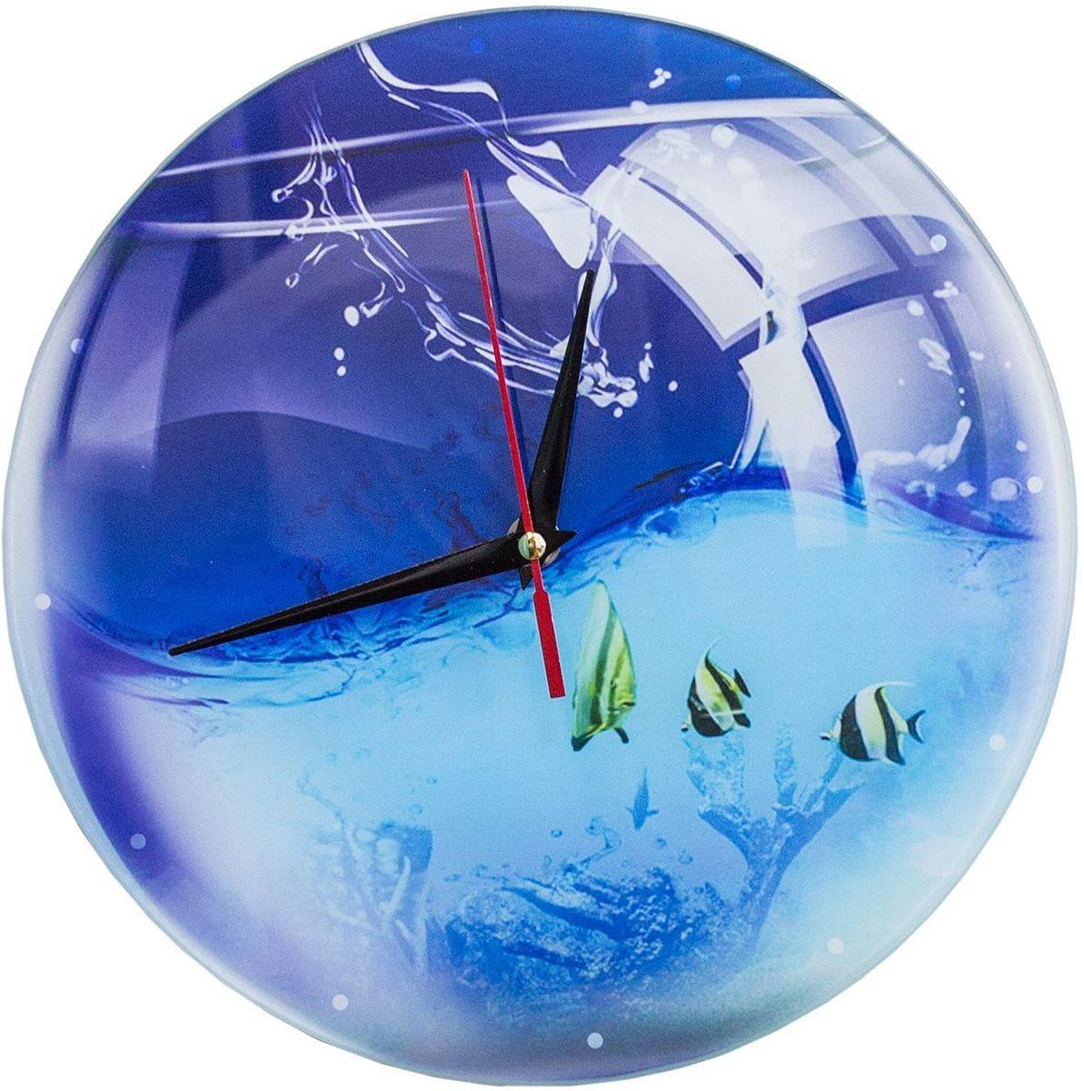 Часы настенные Эврика Аквариум, стеклянные, 30 х 30 х 4 см98107Часы настенные стеклянные с механизмом бесшумного хода (не тикают) в белой картонной коробке. Размеры упаковки: 30 х 30 х 4 см. Элемент питания: 1хАА (1,5В).