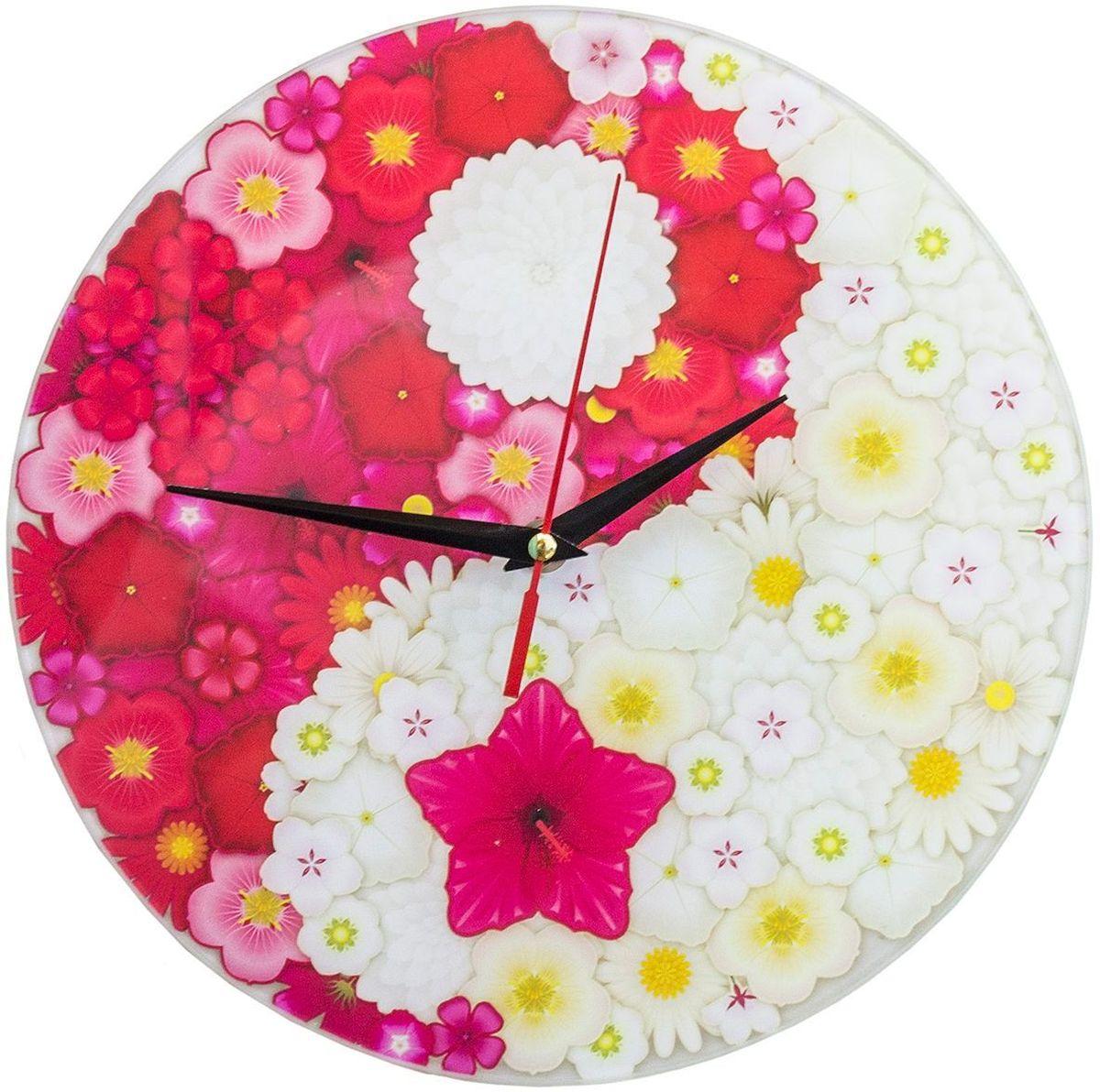 Часы настенные Эврика Инь Янь. Цветы