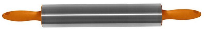 Скалка Мультидом, цвет: оранжевый, длина 42 смAN80-116Скалка Мультидом представляет собой вытянутый цилиндр с пластиковыми ручками. Рабочая часть изготовлена из нержавеющей стали. Используется на кухне для раскатывания теста во время приготовления выпечки. Скалка проста в уходе, абсолютно гигиенична, легко моется с использованием жидких моющих средств. Внимание! Не используйте абразивные материалы и жесткие щетки.Изготовлено: рабочая часть из коррозионностойкой (нержавеющей) стали, ручки из полипропилена.Размер: общая длина 42 см, рабочая часть 22 см.