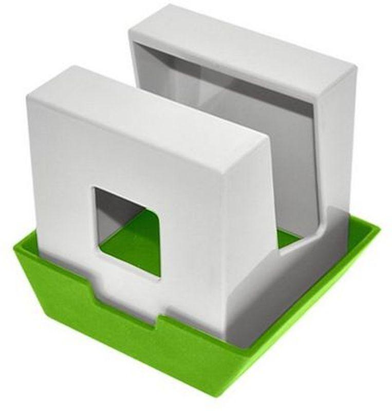 Подставка под крышку и лопатки Мультидом, цвет: белый, зеленыйJ80-175Подставка Мультидом удивит вас своей многофункциональностью! Этот стильный аксессуар для кухни украсит ваш интерьер и порадует многообразием решений для использования. Она может использоваться как подставка для инструментов при приготовлении пищи... одно движение и это подставка для крышки! Вы можете располагать на ней все, что вам хочется: будь то палочки для еды, книга с рецептами, половник или специи - достаточно перевернуть подставку или поменять расположение крышки.Изготовлено из пластика-ABS, крышка из термопластичного эластомера (TPE).