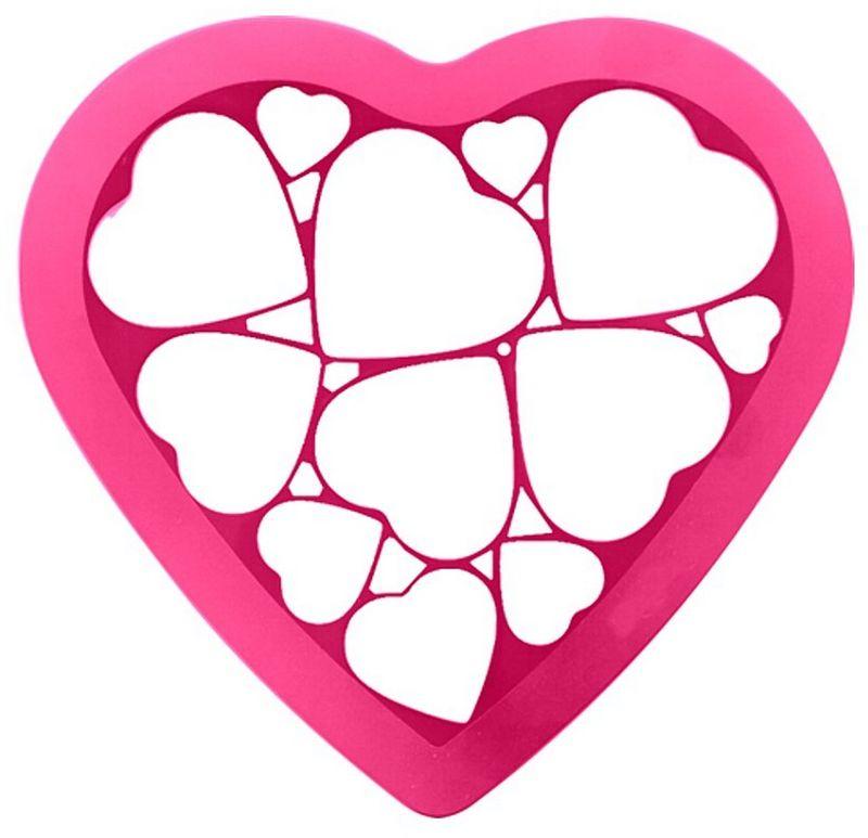 Форма для печенья Мультидом Сердечки, цвет: розовый, 23 х 25 смDH80-230Если вы любите побаловать своих домашних вкусным и ароматным печеньем или пряниками, тоэта форма - как раз то, что нужно! С помощью этой формы вы сможете одновременно вырезать 12 сердечек различного размера. Готовое печенье можно украсить сахарной пудрой или глазурью, поэтому процесс выпечкипревращается в настоящее творчество! Перед использованием и после, промойте форму проточной водой, можно с использованиемжидкого моющего средства. Можно мыть в посудомоечной машине.
