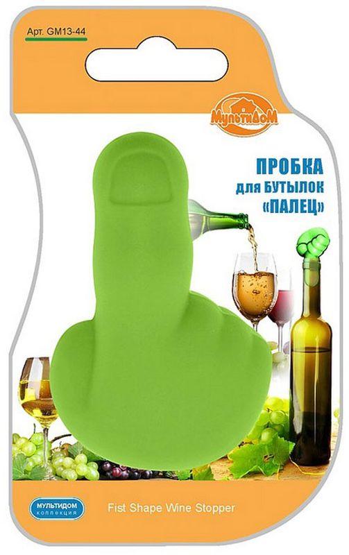 Пробка для бутылок Мультидом Палец, цвет: зеленыйGM13-44Пробка для бутылок Мультидом Палец пригодится на празднике дома и на пикнике, а оригинальный дизайн вызовет улыбку и поднимет настроение в любой компании. Пробка плотно входит в горлышко бутылки и не позволяет напитку пролиться.Изделие практично, многоразового использования, легко моется.В процессе использования может исчезнуть яркость цвета, но не влияет на качество изделия.