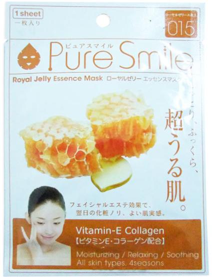 Pure Smile Essence Mask Омолаживающая маска для лица с эссенцией маточного молочка пчел, 23 мл000181Еженедельный уход - это неотъемлемая процедура для полноценного ухода за кожей лица. Необходимо каждую неделю использовать различные маски. Преимущество нужно отдать увлажняющим, питательным, и маскам для повышения упругости кожи. Все эти функции вы найдете в линии Pure Smile. Эти маски настоящие волшебные палочки, способные моментально преобразить вашу кожу. Ведь сыворотка, которая используется для пропитки маски, имеет тройную концентрацию активных компонентов. За короткое время воздействия, маска отдает всю силу полезных ингредиентов вашей коже. Коллаген в составе сыворотки наполняет кожу влагой, восстанавливает плотность и упругость кожи. Эссенция маточного молочка способствует регенерации клеток, обладаем комплексным омолаживающим действием, питает, укрепляет овал, разглаживает мимические морщинки, защищает кожу.