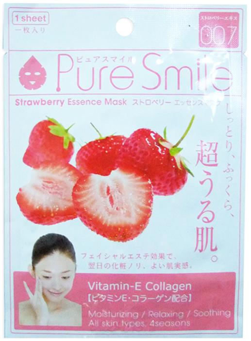 Pure Smile Essence Mask Обновляющая маска для лица с эссенцией клубники, 23 мл толстовка wearcraft premium унисекс printio бесстрашный воин