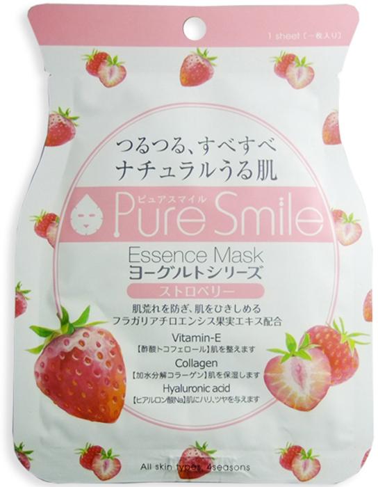 Pure Smile Yogurt Mask Выравнивающая тон кожи маска для лица на йогуртовой основе с экстрактом клубники, 23 мл018445Еженедельный уход - это неотъемлемая процедура для полноценного ухода за кожей лица. Необходимо каждую неделю использовать различные маски. Преимущество нужно отдать увлажняющим, питательным, и маскам для повышения упругости кожи. Все эти функции вы найдете в линии Pure Smile. Эти маски настоящие волшебные палочки, способные моментально преобразить вашу кожу. Ведь сыворотка, которая используется для пропитки маски, имеет тройную концентрацию активных компонентов. За короткое время воздействия, маска отдает всю силу полезных ингредиентов вашей коже. Комфортная маска моментально насытит кожу влагой, разгладит морщинки, вернет упругость и эластичность. Йогурт содержит аминокислоты, которые обладают мощным увлажняющим действием, а молочная кислота в его составе способствует мягкому отшелушиванию ороговевших клеток. Экстракт клубники смягчает пигментацию, выравнивает тон и рельеф кожи, способствует регенерации.
