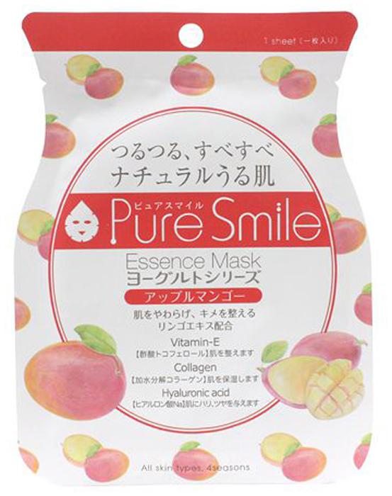 Pure Smile Yogurt Mask Смягчающая маска для лица на йогуртовой основе с экстрактом яблока и манго, 23 мл018452Еженедельный уход - это неотъемлемая процедура для полноценного ухода за кожей лица. Необходимо каждую неделю использовать различные маски. Преимущество нужно отдать увлажняющим, питательным, и маскам для повышения упругости кожи. Все эти функции вы найдете в линии Pure Smile. Эти маски настоящие волшебные палочки, способные моментально преобразить вашу кожу. Ведь сыворотка, которая используется для пропитки маски, имеет тройную концентрацию активных компонентов. За короткое время воздействия, маска отдает всю силу полезных ингредиентов вашей коже. Комфортная маска моментально насытит кожу влагой, разгладит морщинки, вернет упругость и эластичность. Йогурт содержит аминокислоты, которые обладают мощным увлажняющим действием, а молочная кислота в его составе способствует мягкому отшелушиванию ороговевших клеток. Экстракты яблока и манго зарядят кожу бодростью, вернут ей эластичность и яркий тон. Так же фруктовые экстракты смягчат и разгладят кожу.