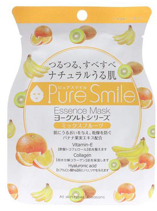 Pure Smile Yogurt Mask Питательная маска для лица на йогуртовой основе с экстрактом фруктов, 23 мл018483Еженедельный уход - это неотъемлемая процедура для полноценного ухода за кожей лица. Необходимо каждую неделю использовать различные маски. Преимущество нужно отдать увлажняющим, питательным, и маскам для повышения упругости кожи. Все эти функции вы найдете в линии Pure Smile. Эти маски настоящие волшебные палочки, способные моментально преобразить вашу кожу. Ведь сыворотка, которая используется для пропитки маски, имеет тройную концентрацию активных компонентов. За короткое время воздействия, маска отдает всю силу полезных ингредиентов вашей коже. Комфортная маска моментально насытит кожу влагой, разгладит морщинки, вернет упругость и эластичность. Йогурт содержит аминокислоты, которые обладают мощным увлажняющим действием, а молочная кислота в его составе способствует мягкому отшелушиванию ороговевших клеток. Настоящий фруктовый салат станет изысканным лакомством для Вашей кожи! Экстракты фруктов зарядят кожу энергией, стимулируют регенерацию клеток, сотрут следы усталости с кожи, сделают тон лица более яркой.