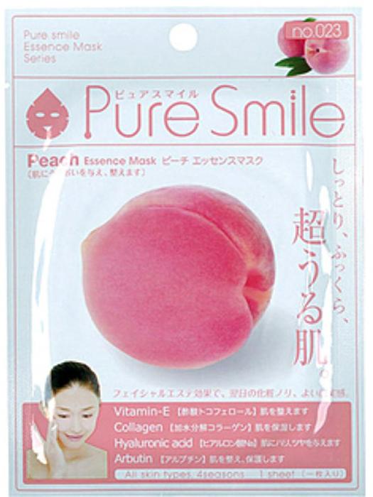Pure Smile Essence Mask Обновляющая маска для лица с эссенцией персика, 23 мл019398Еженедельный уход - это неотъемлемая процедура для полноценного ухода за кожей лица. Необходимо каждую неделю использовать различные маски. Преимущество нужно отдать увлажняющим, питательным, и маскам для повышения упругости кожи. Все эти функции вы найдете в линии Pure Smile. Эти маски настоящие волшебные палочки, способные моментально преобразить вашу кожу. Ведь сыворотка, которая используется для пропитки маски, имеет тройную концентрацию активных компонентов. За короткое время воздействия, маска отдает всю силу полезных ингредиентов вашей коже. Коллаген в составе сыворотки наполняет кожу влагой, восстанавливает плотность и упругость кожи. Эссенция плодов персика повышает упругость кожи, активизирует естественные восстановительные процессы, оказывает увлажняющее и защитное действие для нежной кожи лица.
