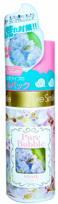Pure Smile Pure Bubble Очищающая пенная маска для лица на основе углекислого газа с эссенцией улитки, 50 мл026471Невероятная текстура этой маски усладит Вашу кожу! Изысканная сыворотка сразу же после нанесения превращается в пушистую пенку, которая открывает поры и освобождает их от загрязнений, следом насыщает клетки кислородом. Маска за считанные секунды преобразит Вашу кожу, мягко удалит ороговевшие клеточки, осветлит тон, насытит влагой глубокие слои кожи, подтянет, вернет коже тонус и сияние. Эссенция улитки возвращает коже упругость и эластичность, обладает комплексным восстанавливающим действием.