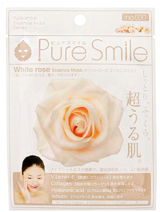 Pure Smile Essence Mask Восстанавливающая маска для лица с эссенцией белой розы, 23 мл027997Еженедельный уход - это неотъемлемая процедура для полноценного ухода за кожей лица. Необходимо каждую неделю использовать различные маски. Преимущество нужно отдать увлажняющим, питательным, и маскам для повышения упругости кожи. Все эти функции вы найдете в линии Pure Smile. Эти маски настоящие волшебные палочки, способные моментально преобразить вашу кожу. Ведь сыворотка, которая используется для пропитки маски, имеет тройную концентрацию активных компонентов. За короткое время воздействия, маска отдает всю силу полезных ингредиентов вашей коже. Коллаген в составе сыворотки наполняет кожу влагой, восстанавливает плотность и упругость кожи. Эссенция белой розы сужает поры кожы, помогает выровнять цвет лица, повышает упругость и эластичность кожи, разглаживая морщины.