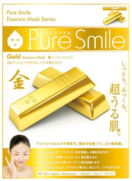 Pure Smile Essence Mask Подтягивающая маска для лица с эссенцией золота, 23 мл042280Еженедельный уход - это неотъемлемая процедура для полноценного ухода за кожей лица. Необходимо каждую неделю использовать различные маски. Преимущество нужно отдать увлажняющим, питательным, и маскам для повышения упругости кожи. Все эти функции вы найдете в линии Pure Smile. Эти маски настоящие волшебные палочки, способные моментально преобразить вашу кожу. Ведь сыворотка, которая используется для пропитки маски, имеет тройную концентрацию активных компонентов. За короткое время воздействия, маска отдает всю силу полезных ингредиентов вашей коже. Коллаген в составе сыворотки наполняет кожу влагой, восстанавливает плотность и упругость кожи. Экстракт коллоидного золота в составе эссенции маски эффективно разглаживает морщинки, придает коже упругость и эластичность, подтягивает, увлажняет и питает, улучшает цвет и придает здоровое сияние.