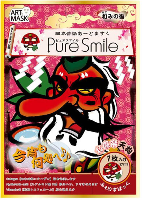 Pure Smile Art Mask Концентрированная увлажняющая маска для лица с экстрактами цветов камелии, с коллагеном, гиалуроновой кислотой и витамином Е, с рисунком (дьявол), 27 мл045557Еженедельный уход - это неотъемлемая процедура для полноценного ухода за кожей лица. Необходимо каждую неделю использовать различные маски. Чтобы уход за кожей был не только эффективным, но и веселым, используйте забавные маски с рисунком. Сыворотка, которая используется для пропитки маски, имеет тройную концентрацию активных компонентов. За короткое время воздействия, маска отдает всю силу полезных ингредиентов вашей коже. Коллаген в составе сыворотки наполняет кожу влагой, гиалуроновая кислота и витамин Е - восстанавливают плотность и упругость кожи. Экстракт цветов камелии интенсивно увлажняет кожу. А веселый рисунок с изображением японских фольклорных персонажей поднимет Вам настроение! Рисунок не растекается и совершенно безопасен для кожи.