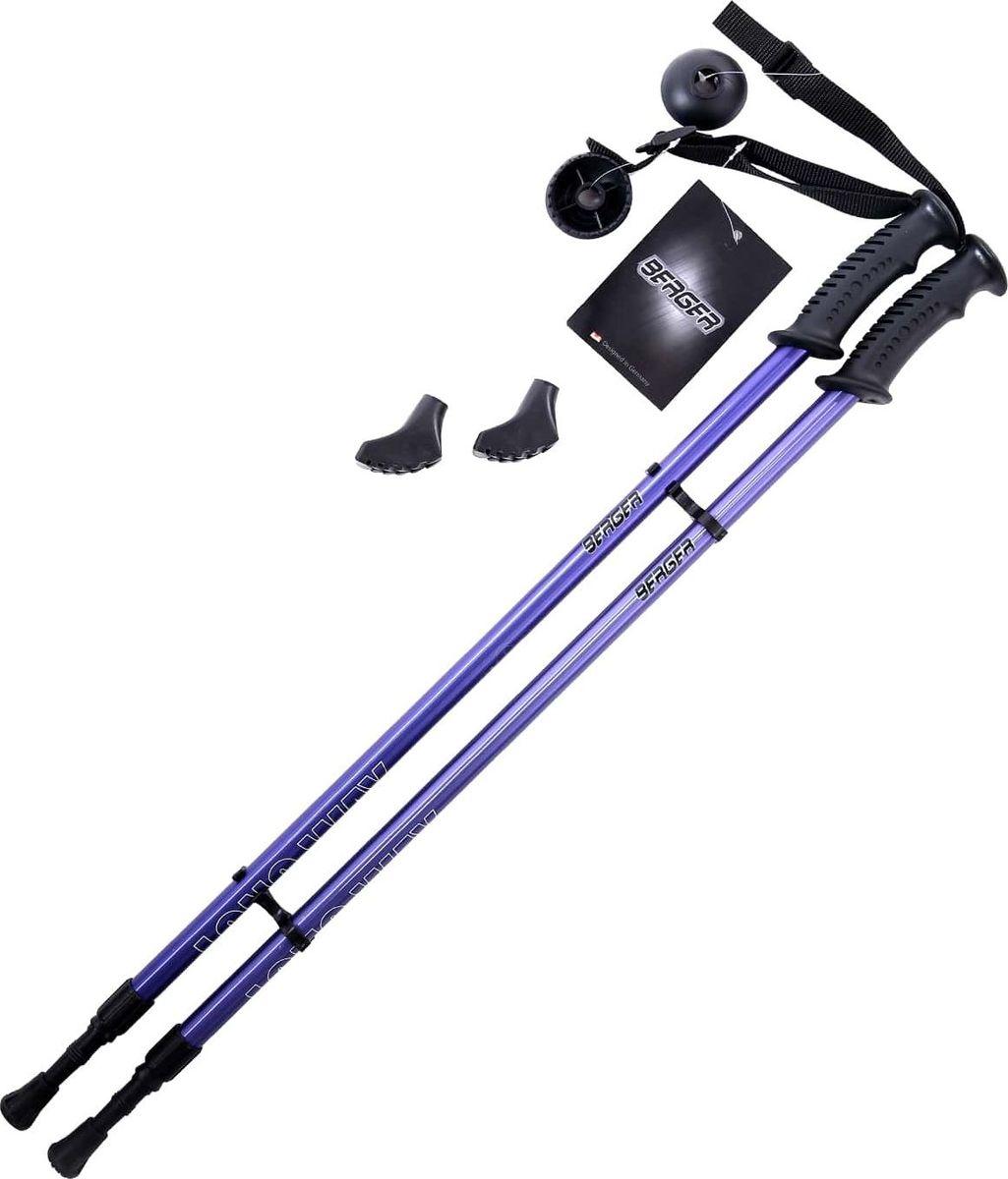 Палки для скандинавской ходьбы Berger  Longway , двухсекционные, цвет: темно-синий, 77-130 см, 2 шт - Скандинавская ходьба