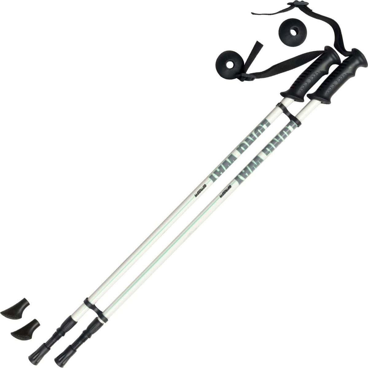 Палки для скандинавской ходьбы Berger  Longway , двухсекционные, цвет: белый, мятный, 78-135 см - Скандинавская ходьба