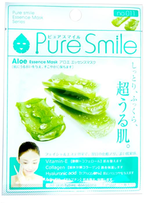 Pure Smile Essence Mask Увлажняющая маска для лица с экстрактом алоэ, 23 мл60342Еженедельный уход - это неотъемлемая процедура для полноценного ухода за кожей лица. Необходимо каждую неделю использовать различные маски. Преимущество нужно отдать увлажняющим, питательным, и маскам для повышения упругости кожи. Все эти функции вы найдете в линии Pure Smile. Эти маски настоящие волшебные палочки, способные моментально преобразить вашу кожу. Ведь сыворотка, которая используется для пропитки маски, имеет тройную концентрацию активных компонентов. За короткое время воздействия, маска отдает всю силу полезных ингредиентов вашей коже. Коллаген в составе сыворотки наполняет кожу влагой, восстанавливает плотность и упругость кожи. Экстракт алоэ увлажняет кожу, восстанавливает, улучшает микроциркуляцию, купирует воспаления, стимулирует обменные процессы.