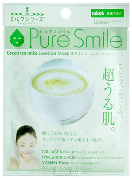 Pure Smile Milk Mask Молочная обновляющая кожу маска для лица с экстрактом зеленого чая, 23 мл018346Еженедельный уход - это неотъемлемая процедура для полноценного ухода за кожей лица. Необходимо каждую неделю использовать различные маски. Преимущество нужно отдать увлажняющим, питательным, и маскам для повышения упругости кожи. Все эти функции вы найдете в линии Pure Smile. Эти маски настоящие волшебные палочки, способные моментально преобразить вашу кожу. Ведь сыворотка, которая используется для пропитки маски, имеет тройную концентрацию активных компонентов. За короткое время воздействия, маска отдает всю силу полезных ингредиентов вашей коже. Коллаген в составе сыворотки наполняет кожу влагой, восстанавливает плотность и упругость кожи. Экстракт молочного белка, восстанавливает гидролипидную пленку, создает защитную сеточку, которая препятствует потере влаги с поверхности кожи. Эссенция зеленого чая является мощнейшим антиоксидантом, оказывает противовоспалительное и антибактериальное действие, способствуют проникновению биологически активных веществ в кожу. Экстракт зеленого чая снабжает клетки кислородом.