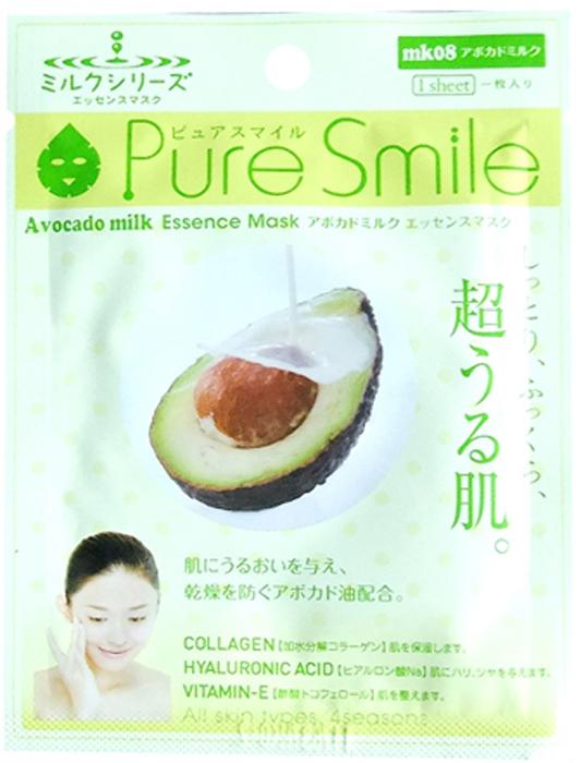 Pure Smile Milk Mask Молочная питательная маска для лица с маслом авокадо, 23 мл тканевые маски и патчи pure tree тканевая маска перчатки для рук с экстрактом авокадо pure tree 28 гр