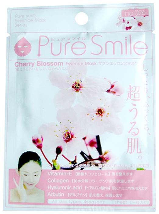 Pure Smile Essence Mask Разглаживающая маска для лица с эссенцией цветков сакуры, 23 мл019428Еженедельный уход это неотъемлемая процедура для полноценного ухода за кожей лица. Необходимо каждую неделю использовать различные маски. Преимущество нужно отдать увлажняющим, питательным, и маскам для повышения упругости кожи. Все эти функции вы найдете в линии Pure Smile. Эти маски настоящие волшебные палочки, способные моментально преобразить вашу кожу. Ведь сыворотка, которая используется для пропитки маски, имеет тройную концентрацию активных компонентов. За короткое время воздействия, маска отдает всю силу полезных ингредиентов Вашей коже. Коллаген в составе сыворотки наполняет кожу влагой, восстанавливает плотность и упругость кожи. Эссенция цветков сакуры увлажняет и питает кожу, выравнивает тон кожи смягчая пигментацию, освежает и тонизирует кожу, снимает раздражение и способствует заживлению поврежденной кожи, сужает поры и нормализует работу сальных желез.