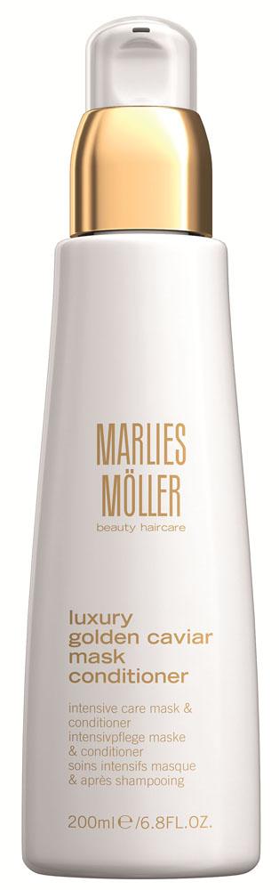 Marlies Moller Luxury Golden Caviar Кондиционер-маска для эластичности волос, 200 мл21343MMПотрясающий продукт с частичками золота и ценным экстрактом черной икры может использоваться и как маска, и как кондиционер. Интесивно питает волосы, окутывая волосы ослепительным блеском и сиянием. Облегчает расчесывание, укрепляет и возвращает волосам здоровый, ухоженный вид.
