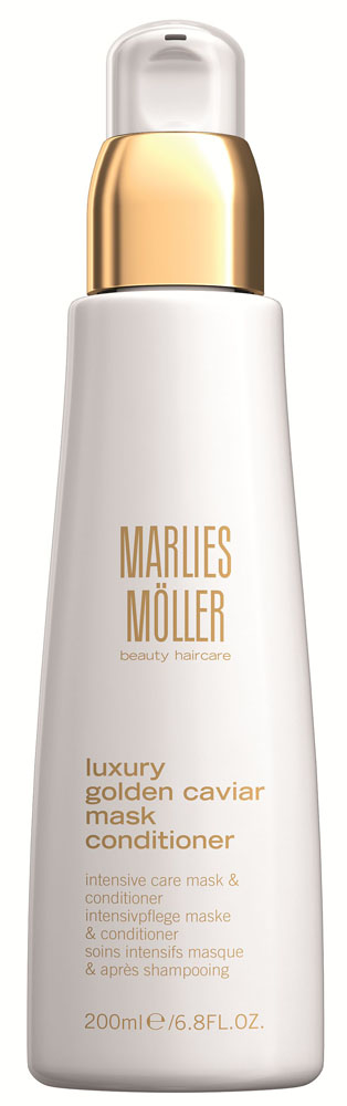 Marlies Moller Luxury Golden Caviar Кондиционер-маска для эластичности волос, 200 мл эликсир успокаивающий 50 мл marlies moller эликсир успокаивающий 50 мл