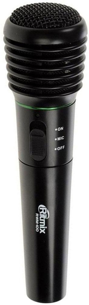 Ritmix RWM-100, Black микрофон