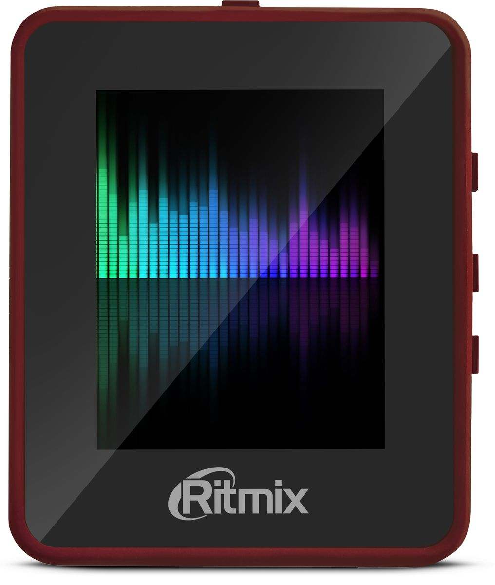 Ritmix RF-4150 8Gb, Red MP3-плеер151174538Гб, 1,8 сенсорный дисплей, аудио: MP3, WMA, видео: AVI, фото: JPEG, BMP, текст: TXT, FM-радио, диктофон, разъем для SD-карты, клипса для крепления, бордовый