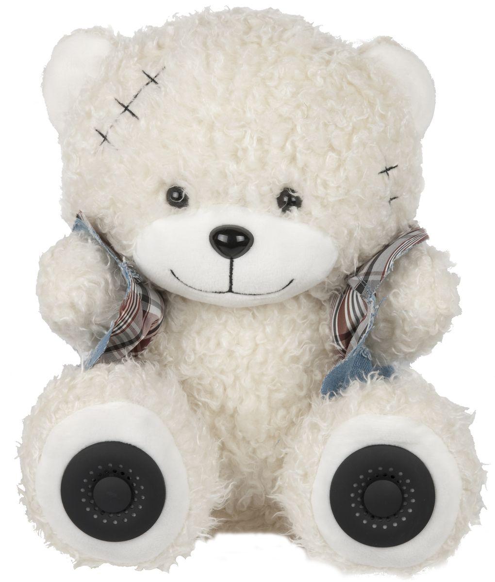 Ritmix ST-150 Bear, White портативная акустическая система15118373Портативная аудиосистема, режимы : карта SD, USB, AUX, стерео, мощность 2*3 Вт, встр. аккумулятор, 2000 мАч, форма: медведь, цвет: белый