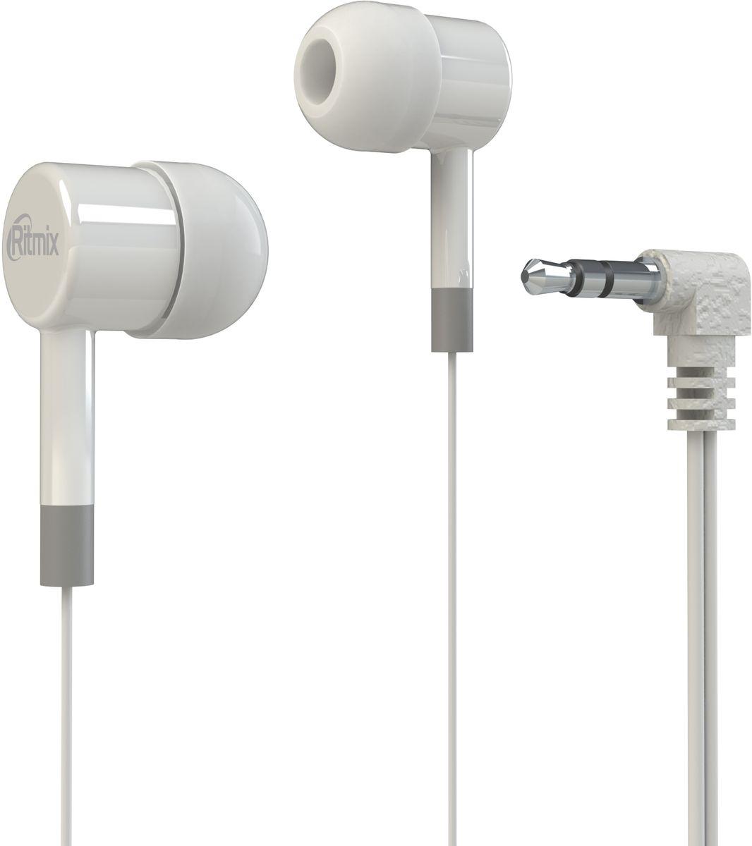 Ritmix RH-003, White наушники аудио наушники ritmix гарнитуры ritmix rh 565m gaming