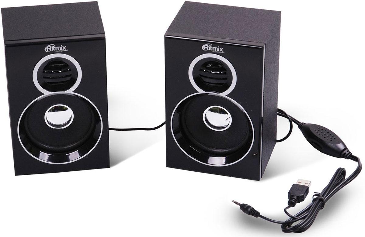 Ritmix SP-2013w, Black акустическая система - Колонки для компьютера