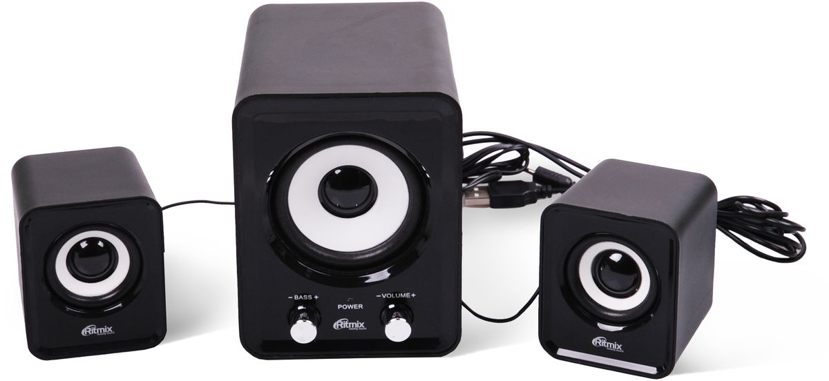Ritmix SP-2120, Black акустическая система - Колонки для компьютера