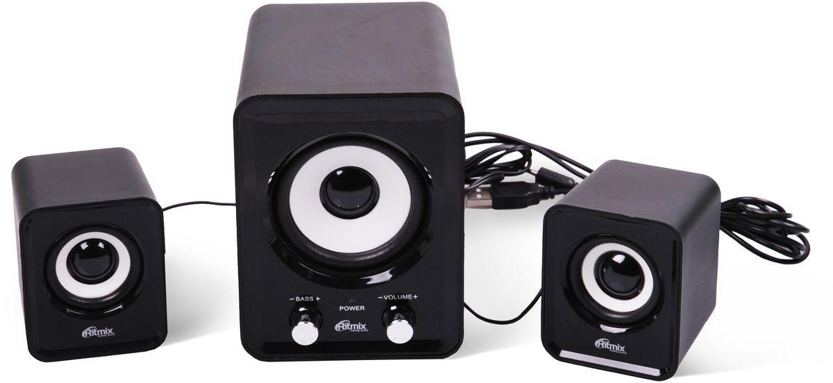 Ritmix SP-2120, Black акустическая система радио часы ritmix радиобудильники ritmix rrc 818 black