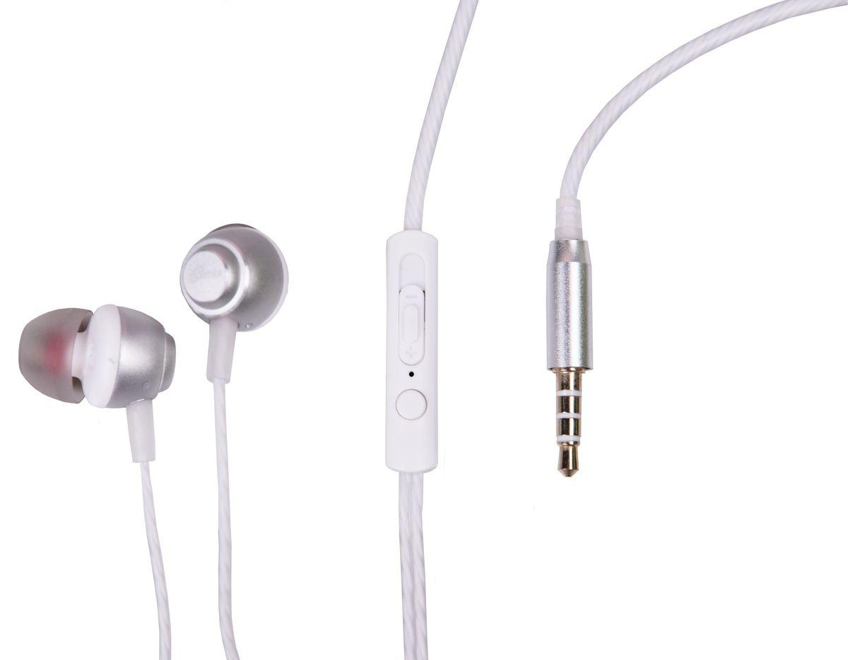 Ritmix RH-150M, Silver наушники15119157Ritmix RH-150M - это портативные наушники-вкладыши с функцией гарнитуры в алюминиевом корпусе. Выпускаются в трёх цветовых решениях и предназначены для использования с телефонами, планшетами и MP3-плеерами. В комплекте имеются дополнительные амбушюры.