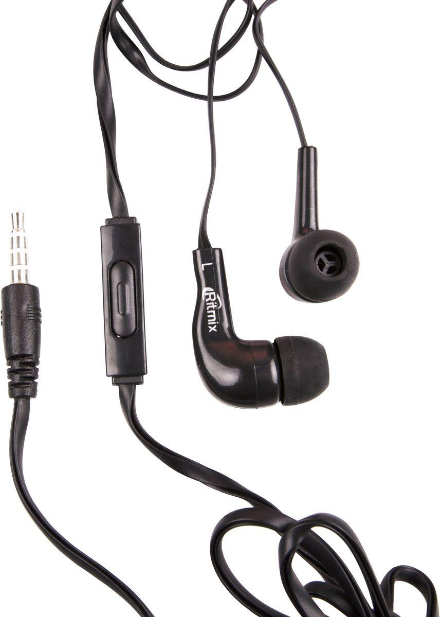 Ritmix RH-004M, Black наушники15119163Ritmix RH-004M – это портативные наушники-вкладыши с функцией гарнитуры, имеющие кнопку управления функциями телефона. Предназначены для использования с телефонами, планшетами и MP3-плеерами. В комплекте имеются дополнительные амбушюры.