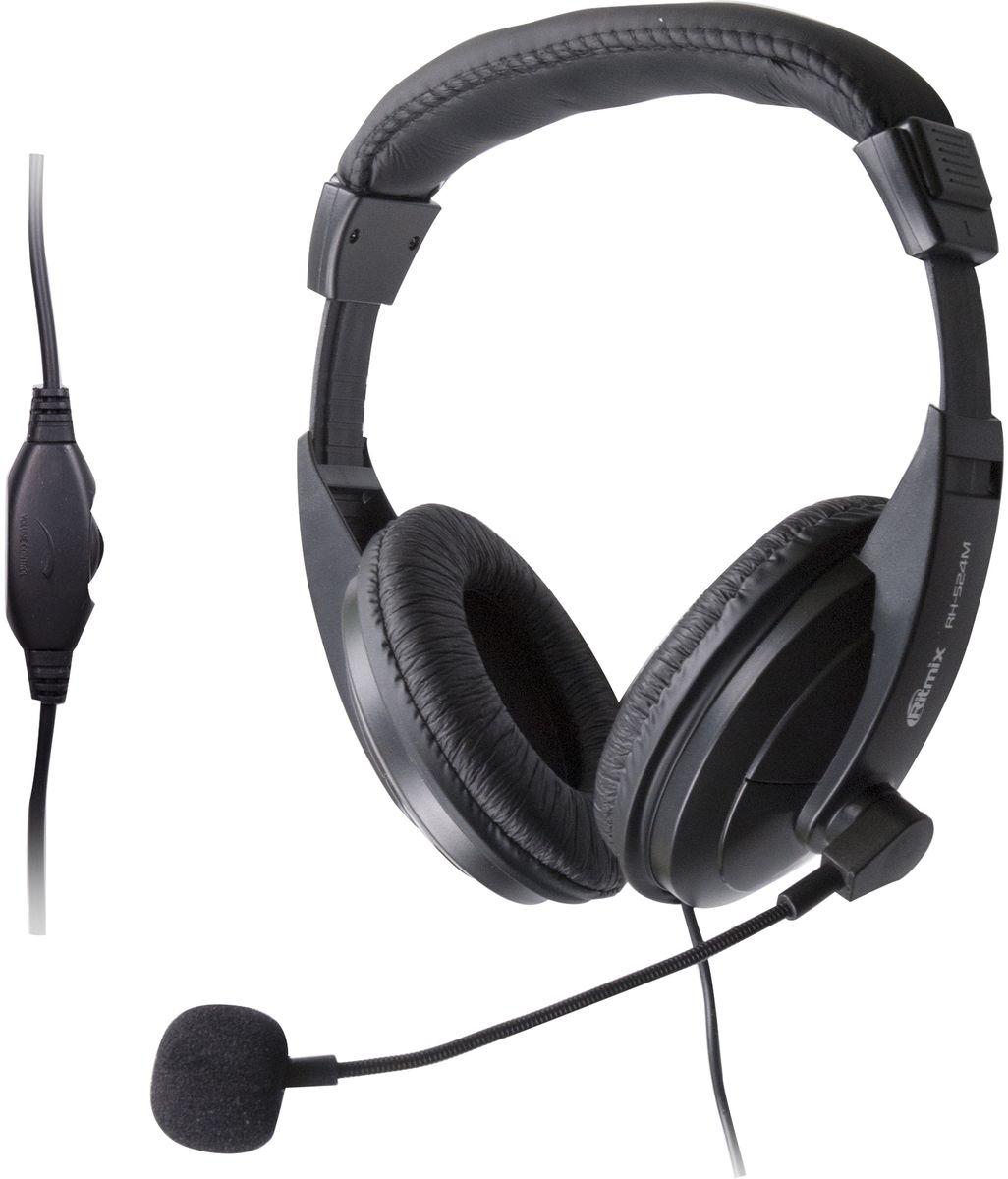 Ritmix RH-524M, Black игровые наушники15119227Ritmix RH-524M – это игровая стереогарнитура, которая идеально подходит для компьютерных игр, распознавания речи, интернет-телефонии и работы со всеми приложениями VoIP, а также для разговоров по Skype.Гарнитура имеет регулируемое оголовье и гибкую ножку у микрофона, что обеспечивает комфортную посадку и удобство использования. А крупные 40 мм динамики обеспечивают объёмное живое звучание.