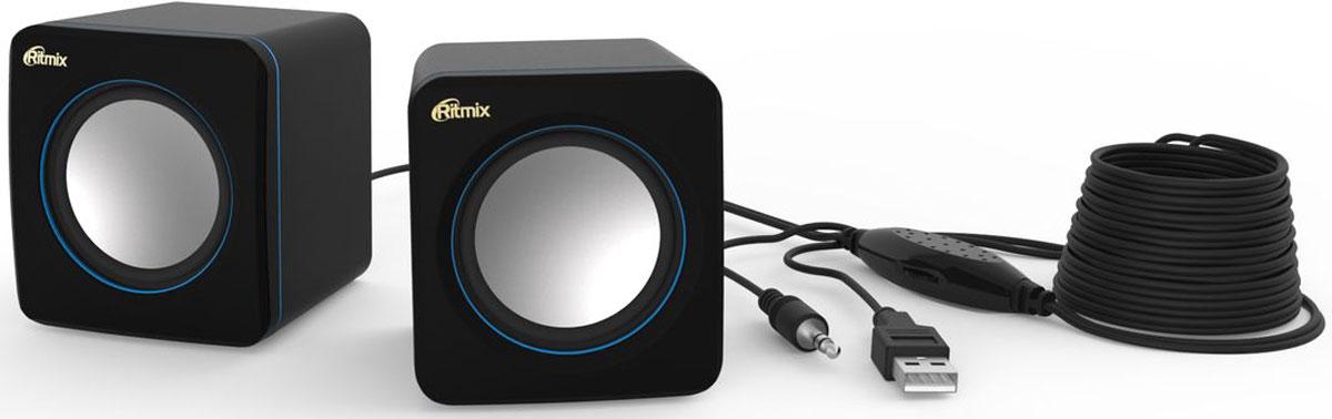 Ritmix SP-2010, Black Blue акустическая система ritmix sp 140b blue white