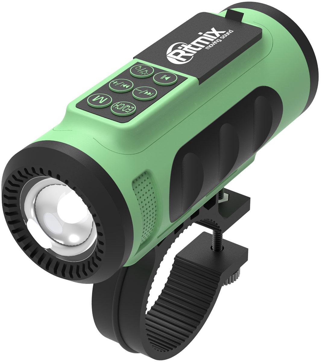 Ritmix SP-520BC, Green Black портативная акустическая система