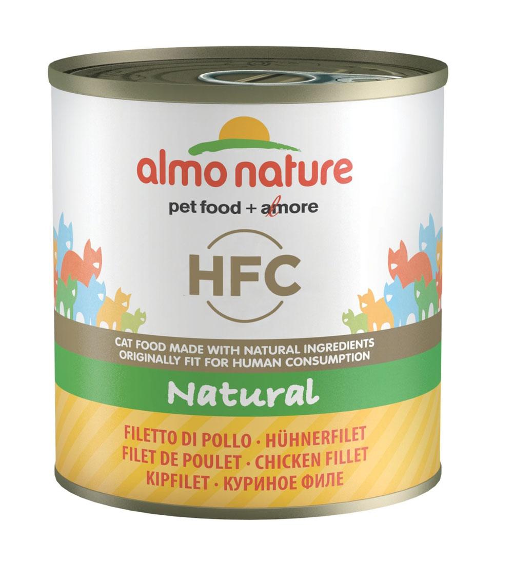Консервы для кошек Almo Nature Classic, с куриным филе, 280 г консервы для щенков almo nature classic с курицей 280 г