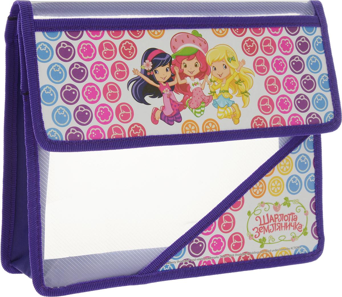 Action! Папка для тетрадей Strawberry Shortcake цвет фиолетовый принадлежности для рисования action папка для акварели