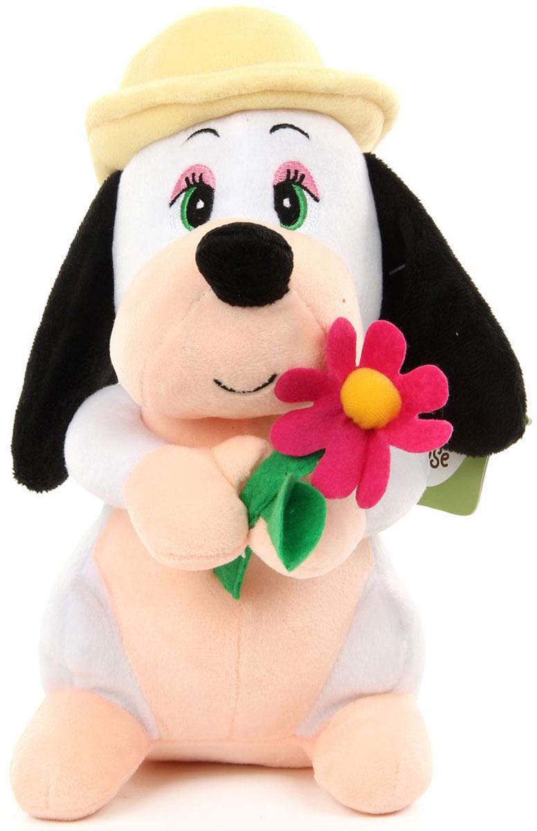 Lapa House Мягкая игрушка Собачка с цветком 23 см beanzees мягкая игрушка собачка dee dee 5 см