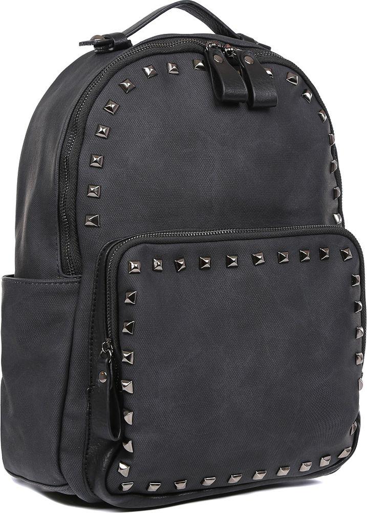 Рюкзак женский Fabretti, цвет: черный. F-79129-1 зонт трость fabretti fabretti fa003dwvzx44