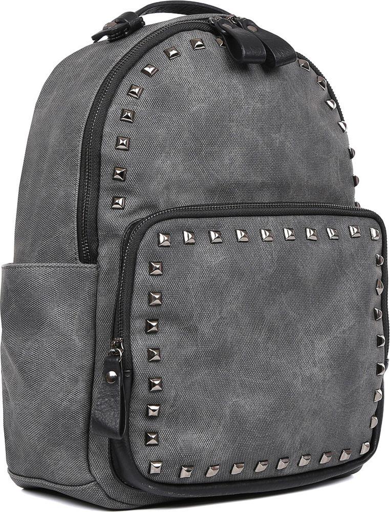 Рюкзак женский Fabretti, цвет: серый. F-79129-1 зонт трость fabretti fabretti fa003dwvzx44