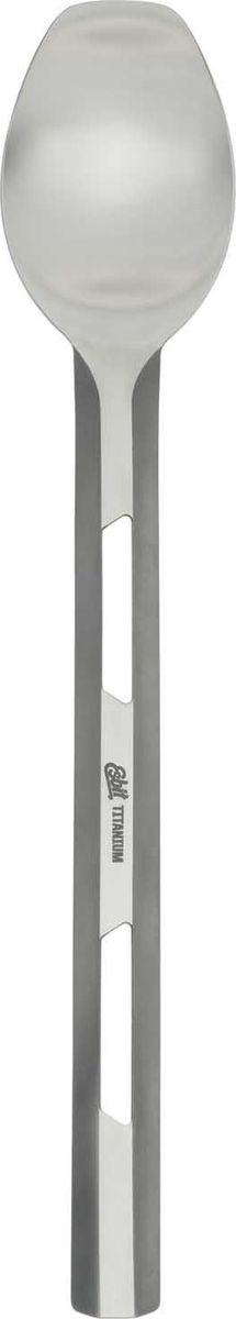 Ложка удлиненная Esbit, длина 21,5 cмLSP222-TIХорошая ложка - предмет, который обязательно стоит взять с собой, отправляясь на природу. Она обязательно пригодится как туристам, так и рыбакам, охотникам и просто отдыхающим, которые едут на пикник. Это практичная, удобная и очень прочная ложка, изготовленная из титанового сплава. По размеру, она соответствует столовой. Ручка такой ложки удлиненная и полный размер столового прибора составляет 22,7 см. Ширина ложки равна 4,1 см. При таких размерах, весит она всего лишь 18 грамм, что также немаловажно для предмета, который придется носить с собою в рюкзаке или сумке.