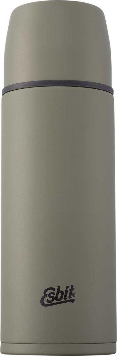 Термос Esbit VFML, цвет: оливковый, зеленый, 1 лVF1000ML-OGТермос из нержавеющей стали оливкового цвета с двумя чашками и дополнительной пробкой. Удобно наливать напитки. Отверстие для наливания открывается/закрывается нажатием кнопки. Высококачественная конструкция термоса сохраняет напитки холодными/горячими длительное время. Удобный в длительных путешествиях, обеспечит вас любимым напитком на целый день. Особенности: высококачественная нержавеющая сталь;прочный;чашка из нержавеющей стали с двойными стенками (250 мл);дополнительная чашка (135 мл);сохраняет напитки холодными / горячими долгое время;внутренняя пробка с резьбой.Характеристики:При температуре воды 98°C и температуре окружающей среды 20°C ± 2°С температура напитка: Через 6 ч: 85°C;Через 12 ч: 75°C;Через 24 ч: 60°C.Технические характеристики: Материал: нержавеющая стальРазмер: 270 х 90 ммВес: 537 гОбъем: 1000 мл