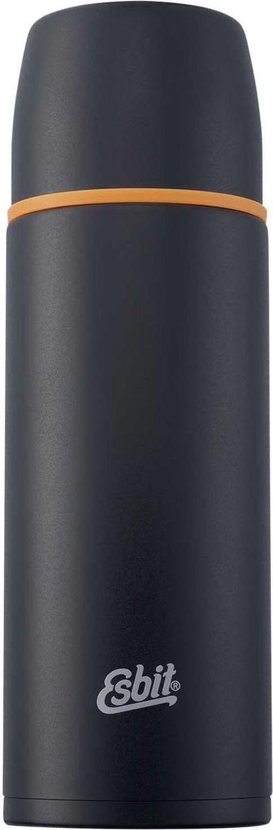 Термос Esbit VF, цвет: черный, оранжевый, 1 лVF1000MLТермос из нержавеющей стали оливкового цвета с двумя чашками и дополнительной пробкой. Удобно наливать напитки. Отверстие для наливания открывается/закрывается нажатием кнопки. Высококачественная конструкция термоса сохраняет напитки холодными/горячими длительное время. Удобный в длительных путешествиях, обеспечит вас любимым напитком на целый день. Особенности: высококачественная нержавеющая сталь;крышка превращается в 2 чашки;сохраняет напитки холодными / горячими длительное время;внутренний пробка с возможностью наливания жидкости;удобно мыть;дополнительная пробка с резьбой.Характеристики:При температуре воды 98°C и температуре окружающей среды 20°C ± 2°С температура напитка: Через 6 ч: 85°C;Через 12 ч: 75°C;Через 24 ч: 60°C.Технические характеристики: Материал: нержавеющая стальРазмер: 270 х 90 ммВес: 537 гОбъем: 1000 мл
