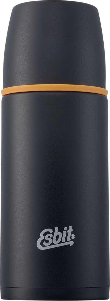 Термос Esbit VF, цвет: черный, оранжевый, 500 млVF500MLЛегкий и компактный термос из нержавеющей стали с двумя чашками и дополнительной пробкой. Удобно наливать напитки. Отверстие для наливания открывается/закрывается нажатием кнопки. Высококачественная конструкция термоса сохраняет напитки холодными/горячими длительное время. Особенности: высококачественная нержавеющая сталь;крышка превращается в 2 чашки;сохраняет напитки холодными/горячими длительное время;внутренний пробка с возможностью наливания жидкости;удобно мыть;дополнительная пробка с резьбой.Характеристики:При температуре воды 98°C и температуре окружающей среды 20°C ± 2°С температура напитка: Через 6 ч: 75°C;Через 12 ч: 60°C;Через 24 ч: 45°C.Технические характеристики: Материал: нержавеющая стальРазмер: 210 х 90 ммВес: 359 гОбъем: 500 мл