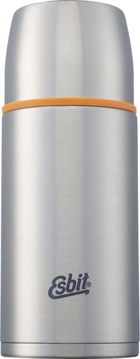 Термос Esbit ISO, цвет: cтальной, оранжевый, 750 млISO750MLТермос из нержавеющей стали с двумя чашками и дополнительной пробкой. Удобно наливать напитки. Высококачественная конструкция термоса сохраняет напитки холодными/горячими длительное время. Особенности: высококачественная нержавеющая сталь;крышка превращается в 2 чашки;сохраняет напитки холодными/горячими длительное время;внутренний пробка с возможностью наливания жидкости;удобно мыть;дополнительная пробка с резьбой.Характеристики:При температуре воды 95°C и температуре окружающей среды 20°C ± 2°с температура напитка: Через 6 ч: 80°C;Через 12 ч: 65°C;Через 24 ч: 50°C.Технические характеристики: Материал: нержавеющая стальРазмер: 225 х 90 ммВес: 465 гОбъем: 750 мл