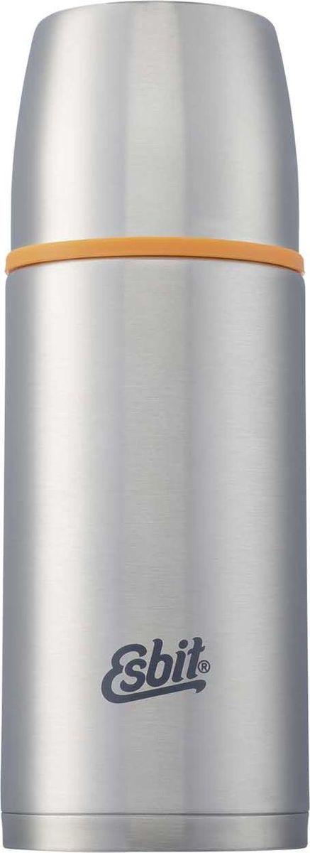 Термос Esbit ISO, цвет: cтальной, оранжевый, 500 млISO500MLТермос из нержавеющей стали с двумя чашками и дополнительной пробкой. Удобно наливать напитки. Высококачественная конструкция термоса сохраняет напитки холодными/горячими длительное время. Особенности: высококачественная нержавеющая сталь;крышка превращается в 2 чашки;сохраняет напитки холодными/горячими длительное время;внутренний пробка с возможностью наливания жидкости;удобно мыть;дополнительная пробка с резьбой.Характеристики:При температуре воды 95°C и температуре окружающей среды 20°C ± 2°С температура напитка: Через 6 ч: 75°C;Через 12 ч: 60°C;Через 24 ч: 45°C.Технические характеристики: Материал: нержавеющая стальРазмер: 210 х 78 ммВес: 359 гОбъем: 500 мл